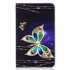preiswerte Tablet-Hüllen-Hülle Für Samsung Galaxy Ganzkörper-Gehäuse / Tablet-Hüllen Schmetterling Hart PU-Leder für Tab E 8.0