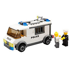 Bloques de Construcción Coche de policía Juguetes Vehículos Clásico Niños 135 Piezas