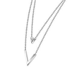 preiswerte Halsketten-Damen Synthetischer Diamant Statement Ketten - Zirkon, Rose Gold überzogen Luxus, Modisch Gold, Weiß, Rotgold Modische Halsketten Schmuck Für Party, Festtage