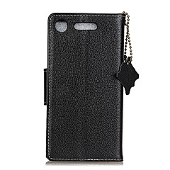 Case For Sony Xperia XA1 Xperia L1 Card Holder Wallet Flip Full Body Solid Color Hard Genuine Leather for Sony Xperia XA1 Sony Xperia E5