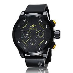 お買い得  メンズ腕時計-男性用 スポーツウォッチ ファッションウォッチ クォーツ ブラック ハンズ ホワイト オレンジ イエロー