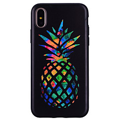 billige Etuier til iPhone 6s-Etui Til Apple iPhone X iPhone 8 Mønster Bagcover Frugt Blødt Silikone for iPhone X iPhone 8 Plus iPhone 8 iPhone 7 Plus iPhone 7 iPhone
