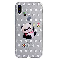 для чехлов крышка прозрачный узор задняя крышка чехол panda блеск блеск мягкий tpu для iphone яблоко iphone 8 плюс iphone 8 iphone 7 plus