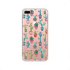 tanie Etui do iPhone 4s / 4-Kılıf Na Apple iPhone X iPhone 8 Przezroczyste Wzór Czarne etui Kwiaty Miękkie TPU na iPhone X iPhone 8 Plus iPhone 8 iPhone 7 Plus