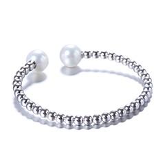 女性用 カフブレスレット 真珠 真珠 純銀製 円形 ジュエリー 用途 結婚式 パーティー