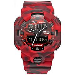 Hombre Reloj Deportivo Chino Digital Calendario Cronógrafo Resistente al Agua alarma Cronómetro PU Banda Rojo Gris Caqui