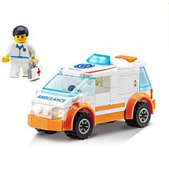 Bloques de Construcción Ambulancia Juguetes Vehículos Niños 92 Piezas