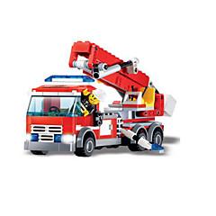 أحجار البناء سيارة الإطفاء ألعاب سيارات الفتيان صبيان 244 قطع