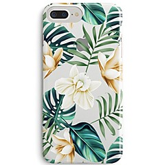 billige iPhone 4s / 4-etuier-Etui Til Apple iPhone X iPhone 8 Ultratyndt Transparent Mønster Bagcover Blomst Træ Blødt TPU for iPhone 8 Plus iPhone 8 iPhone SE/5s