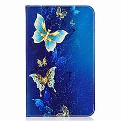 portafoglio portautensili porta carte con farfalla con telaio in cuoio magnetico magnetico per la scheda galassia samsung 8.0 t377 t377v