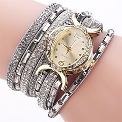 お買い得  レディース腕時計-女性用 ブレスレットウォッチ / ダミー ダイアモンド 腕時計 中国 模造ダイヤモンド PU バンド チャーム / カジュアル / ファッション ブラック / ブルー / レッド