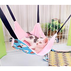 고양이 침대 애완동물 라이너 카툰 더블-사이드 그레이 브라운 블루 핑크