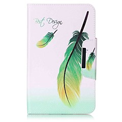 Feathers Pattern Card Holder Wallet with Stand Flip Magnetic PU Leather Case for Samsung Galaxy Tab E 8.0 T377 T377V 8.0 inch Tablet PC