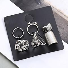 お買い得  指輪-女性用 クリスタル リングセット - クリスタル, 合金 ヴィンテージ, ボヘミアンスタイル, ボヘミアン ワンサイズ シルバー 用途 カジュアル / ストリート