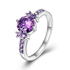 preiswerte Ringe-Damen Kubikzirkonia Verlobungsring - Kubikzirkonia, Kupfer Luxus, Klassisch 6 / 7 / 8 Purpur Für Hochzeit / Party
