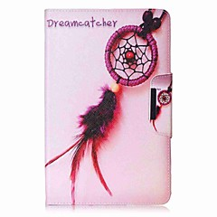 cheap Tablet Cases-Case For Samsung Galaxy Full Body Cases Tablet Cases Dream Catcher Hard PU Leather for Tab E 9.6