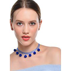 preiswerte Halsketten-Damen Quaste Halsketten / Anhängerketten - Quaste Regenbogen, Rosa, Leicht Grün Modische Halsketten Für Alltag, Verabredung