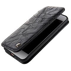 Кейс для Назначение Apple iPhone X iPhone 8 Кошелек Флип Чехол Сплошной цвет Твердый Натуральная кожа для iPhone X iPhone 8 Plus iPhone 8