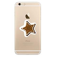 Недорогие Кейсы для iPhone 4s / 4-Кейс для Назначение Apple iPhone X iPhone 8 iPhone 8 Plus Прозрачный С узором Кейс на заднюю панель Геометрический рисунок Рождество