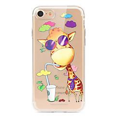 ieftine -Maska Pentru Apple iPhone X iPhone 8 iPhone 8 Plus Ultra subțire Transparent Model Capac Spate Desene Animate Animal Moale TPU pentru