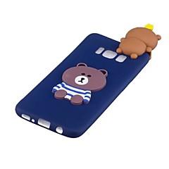 olcso Galaxy S6 tokok-Case Kompatibilitás Samsung Galaxy S8 Plus S8 Minta DIY Fekete tok Panda 3D figura Puha TPU mert S8 Plus S8 S7 edge S7 S6 edge S6