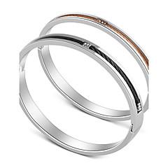 Муж. Жен. Браслет цельное кольцо Базовый дизайн Сердце Нержавеющая сталь Кожа Бижутерия Назначение Праздники На выход