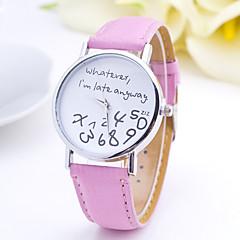 preiswerte Tolle Angebote auf Uhren-Damen Quartz Armbanduhr Modeuhr Armbanduhren für den Alltag Leder Band Elegant Schwarz Weiß Braun Rosa