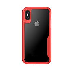 Недорогие Кейсы для iPhone X-Кейс для Назначение Apple iPhone X iPhone X Защита от удара Кейс на заднюю панель Прозрачный Твердый ТПУ для iPhone X