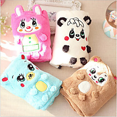 Cat Dog Bed Towels Gasket Pet Mats & Pads Cartoon Bear Animal Keep Warm Portable Double-Sided Soft Folding Blushing Pink Blue Coffee White