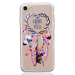 Недорогие Кейсы для iPhone 6-Кейс для Назначение iPhone X iPhone 8 Ультратонкий Прозрачный С узором Задняя крышка Ловец снов Мягкий TPU для iPhone X iPhone 8 Plus