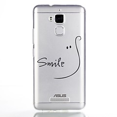 For Case Cover Pattern Back Cover Case Word / Phrase Soft TPU for ASUS Asus Zenfone 3 Max ZC520TL