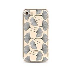 Недорогие Кейсы для iPhone 4s / 4-Кейс для Назначение Apple iPhone X / iPhone 8 Прозрачный / С узором Кейс на заднюю панель дерево Мягкий ТПУ для iPhone X / iPhone 8 Pluss / iPhone 8
