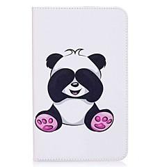 preiswerte Tablet-Hüllen-Hülle Für Samsung Galaxy Ganzkörper-Gehäuse Tablet-Hüllen Panda Hart PU-Leder für Tab E 8.0
