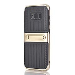 Etui Til Samsung Galaxy S8 Plus S8 Med stativ Bagcover Linjeret / bølget Hårdt PC for S8 S8 Plus S7 edge S7 S6 edge plus S6 edge S6