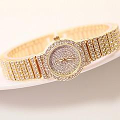 voordelige Dameshorloges-Dames Kwarts Pavé horloge Japans Vrijetijdshorloge Roestvrij staal Band Amulet Uniek creatief horloge Modieus Zilver Goud Goud Rose