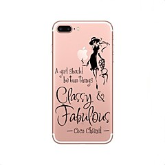 olcso iPhone 4s / 4 tokok-Case Kompatibilitás iPhone X iPhone 8 Átlátszó Minta Hátlap Szexi lány Puha TPU mert iPhone X iPhone 8 Plus iPhone 8 iPhone 7 Plus iPhone