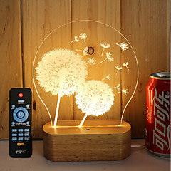 economico Lampadine LED innovative-1set 3D Nightlight Oscurabile Creativo Colore variabile Decorativo Luce LED 5V Artistico LED Moderno/Contemporaneo