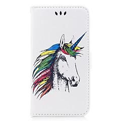 billige Etuier til iPhone 6s-Etui Til Apple iPhone X iPhone 8 iPhone 8 Plus Kortholder Flip Mønster Præget Fuldt etui enhjørning Dyr Hårdt PU Læder for iPhone X