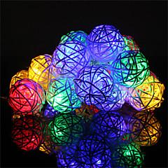 preiswerte LED Lichtstreifen-HKV 4m Leuchtgirlanden 20 LEDs Warmes Weiß / RGB + Warm Fernbedienungskontrolle / Farbwechsel 220-240 V 1pc