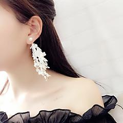 Жен. Серьги-слезки корейский Мода Ткань Сплав Бижутерия Назначение Для вечеринок Повседневные