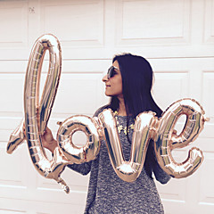 Χαμηλού Κόστους -1pcs προσδέματα αγάπη αλουμινόχαρτο μπαλόνια bachelorette κόμμα γάμου γενέθλια προμήθειες διακόσμησης