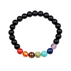 preiswerte Armbänder-Unisex Obsidian Strang-Armbänder - Mehrfarbig Armbänder Schwarz / Braun / Grün Für Geschenk Ausgehen