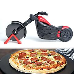 hesapli -Pizza Araçları Motorsiklet Candy Pizza için Pasta Pizza Tart Paslanmaz Çelik + A Sınıfı ABS