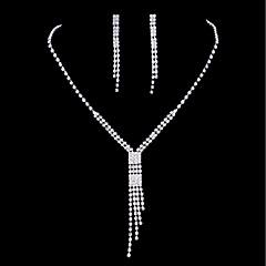 Mujer Pendientes colgantes Collares con colgantes Zirconia Cúbica Cristal Zirconia Cúbica Brillante Para Boda Fiesta de Noche Regalos de