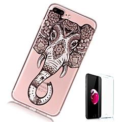 Недорогие Кейсы для iPhone X-Кейс для Назначение Apple iPhone X iPhone 8 Plus Прозрачный С узором Кейс на заднюю панель Слон Мягкий ТПУ для iPhone X iPhone 8 Pluss