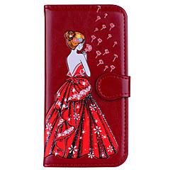 Недорогие Чехлы и кейсы для Xiaomi-Кейс для Назначение Xiaomi Redmi Note 4 Redmi 4X Бумажник для карт Флип С узором Рельефный Соблазнительная девушка Сияние и блеск Твердый