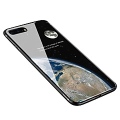 Недорогие Кейсы для iPhone X-Кейс для Назначение Apple iPhone X / iPhone 8 Plus С узором Кейс на заднюю панель Цвет неба Мягкий Закаленное стекло для iPhone X / iPhone 8 Pluss / iPhone 8