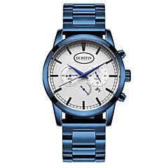 preiswerte Herrenuhren-Herrn Armbanduhren für den Alltag / Modeuhr / Armbanduhr Kalender / Nachts leuchtend Legierungmetall Band Freizeit / Edelstahl