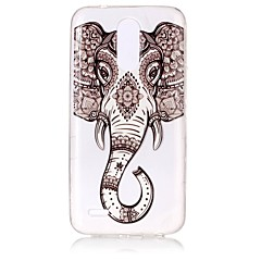 Case For LG K8 (2017) K10 (2017) Ultra-thin Transparent Embossed Pattern Back Cover Elephant Soft TPU for LG K10 (2017) LG K8 (2017)