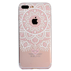 tanie Etui do iPhone 6 Plus-Kılıf Na Apple iPhone X iPhone 8 Plus Wzór Czarne etui Mandala Koronka Printing Miękkie TPU na iPhone X iPhone 8 Plus iPhone 8 iPhone 7